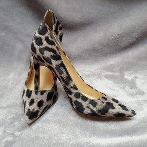 Ivanka trump suede leopard heels